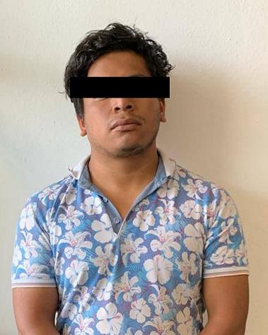 Policía Estatal detiene en Papalotla a sujeto con enervantes