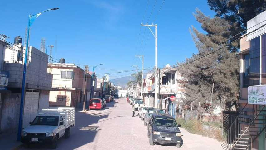 Inauguran obra en Calle Oaxaca comunidad De Tlaltepango, San Pablo De Monte