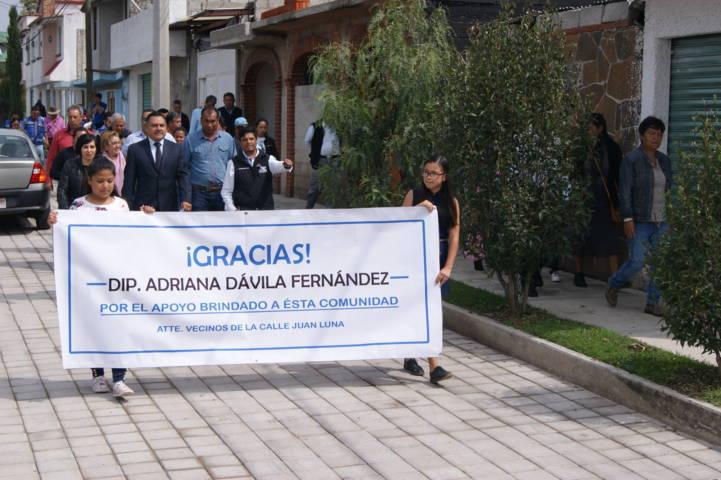 Inaugura Presidente de Tetla, Obra Pública en Atexcatzinco