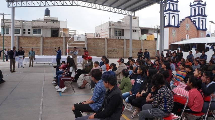 Alcalde entrega techado del Parque Recreativo en la comunidad de Santiago, SPM