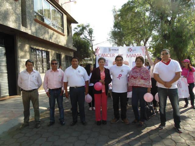Difunde Totolac acciones de prevención contra el Cáncer de Mama: GPB
