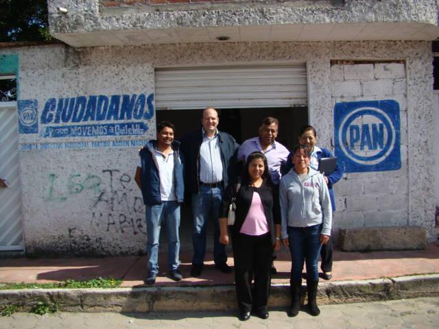 Visita Juan Corral a los Comités Municipales del PAN en Tlaxcala