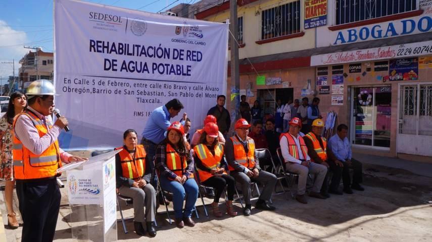 Inician obra integral en calle 5 de febrero, comunidad de San Sebastian, municipio de SPM