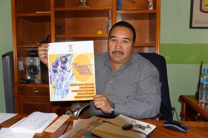 Alcalde de Xicohtzinco alista 1era carrera ciclista infantil