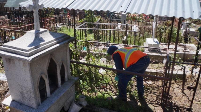 Concluyen limpieza de panteon municipal en San Pablo Del Monte