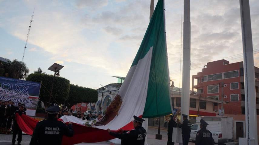 Conmemoran el 170 Aniversario de la gesta heroica de niños héroes en San Pablo del Monte