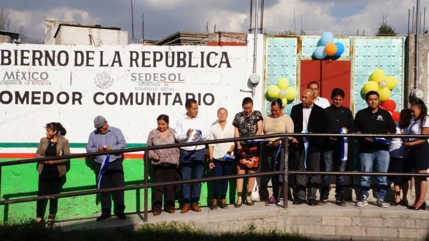 Cutberto Cano inaugura comedor comunitario en San Isidro Buensuceso, SPM