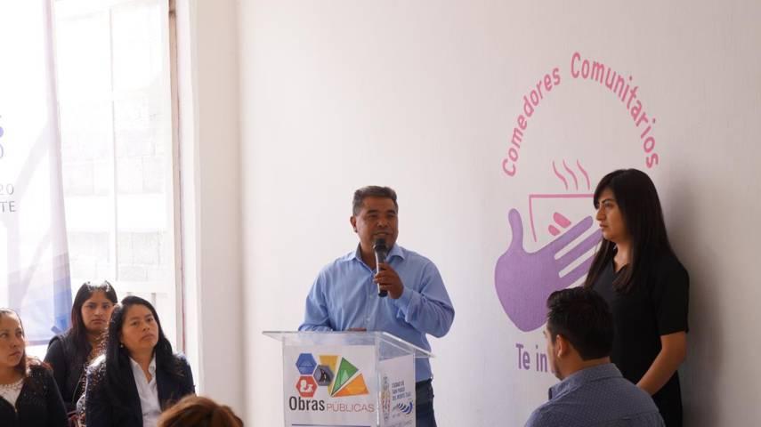 Alcalde inaugura otro comedor comunitario en San Pablo Del Monte