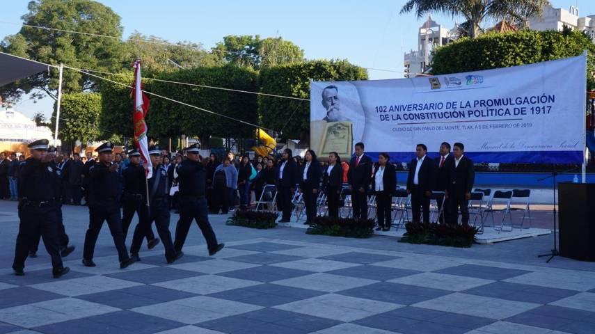 Ayuntamiento de SPM conmemora el CII Aniversario de la Promulgación de la Constitución