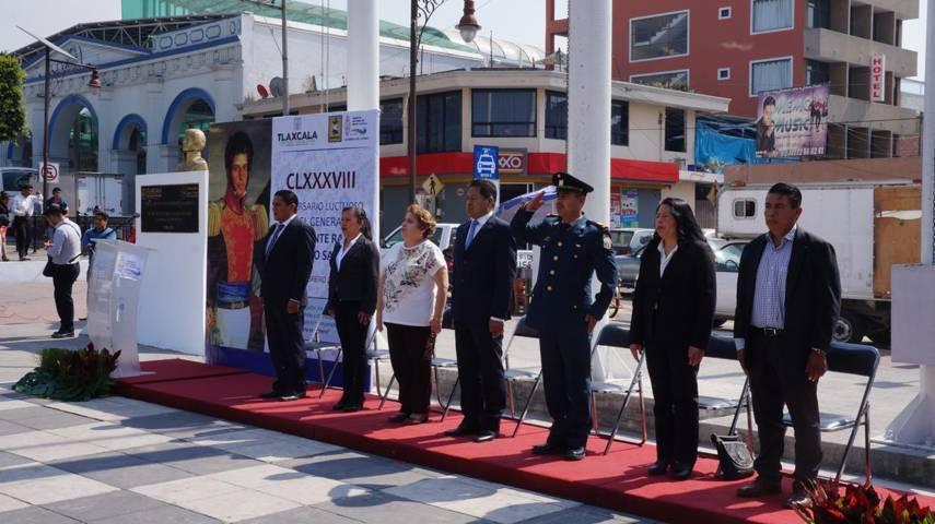 Ayuntamiento de SPM, conmemora el 188 Aniversario Luctuoso de Vicente Guerrero