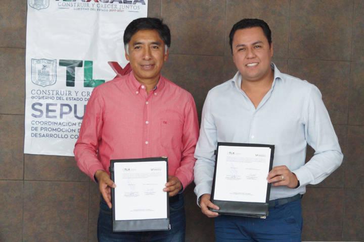 Firman convenio de colaboración Ayuntamiento de Papalotla y Sepuede e Icatlax