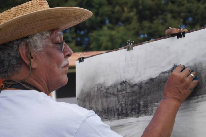 Artistas visuales de la UNAM realizaron proyecto de pintura de paisajes