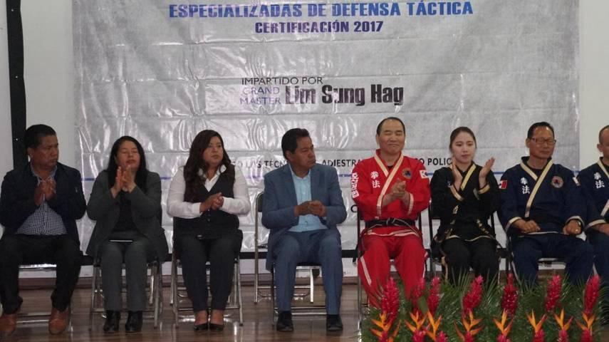 Ejecutan seminario de técnicas especializadas de defensa táctica en San Pablo del Monte