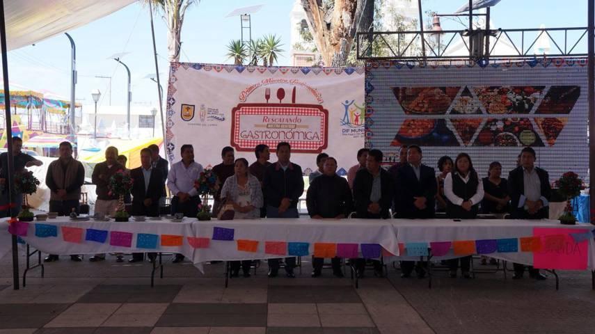 Realizan primer exposición gastronómica cultural en San Pablo del Monte