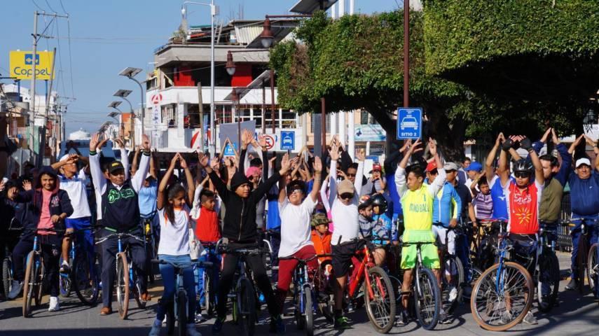 Llevan a cabo rodada ciclista en San Pablo del Monte