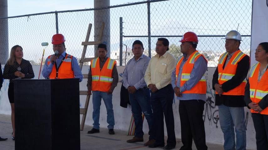 Alcalde municipal inicia obra en unidad deportiva de Tlaltepango, San Pablo del Monte