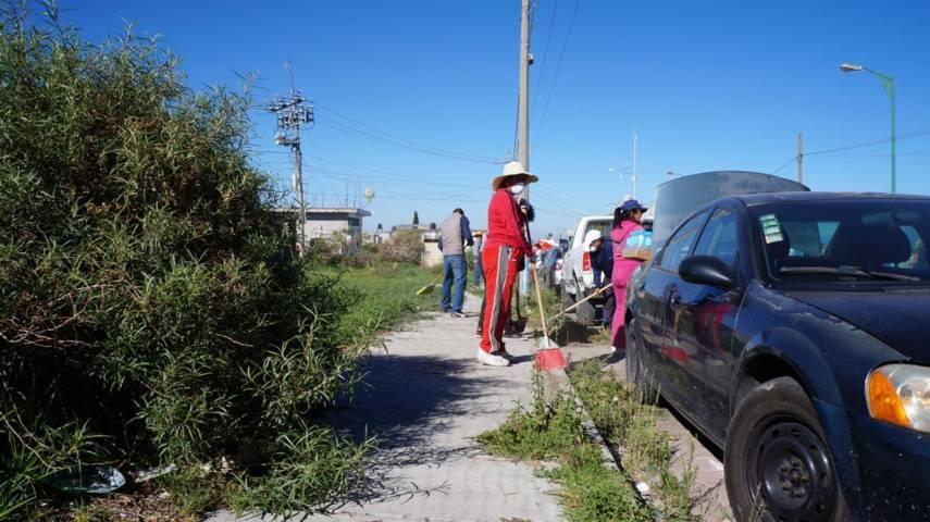 Llevan a cabo 10ª Jornada  de Limpieza en San Pablo del Monte