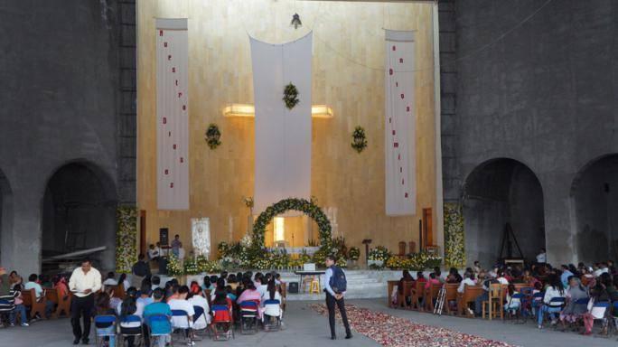 Coro niños cantores de la BUAP se presenta en San Pablo del Monte