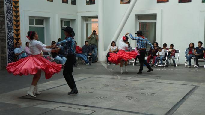 Ballet Folclorico Ollin Yoliztzin se presenta en San Pablo del Monte