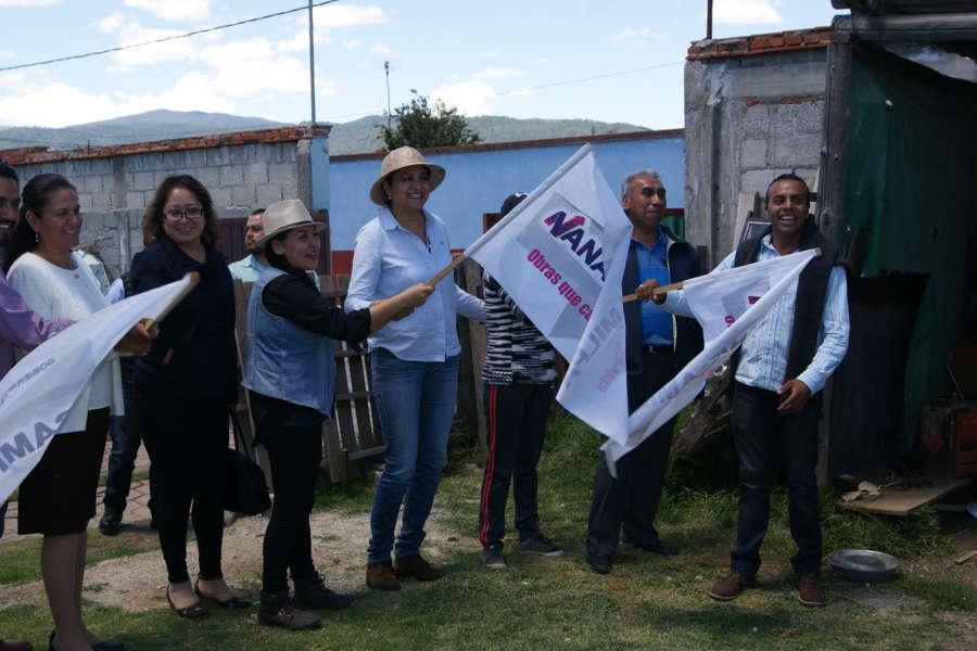 Lilia Olvera continúa el inicio de más obras en Nanacamilpa