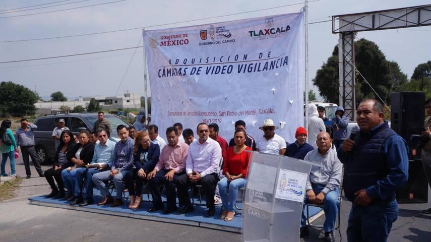 Agregan cámaras de video vigilancia a comunidad de San Isidro Buen Suceso