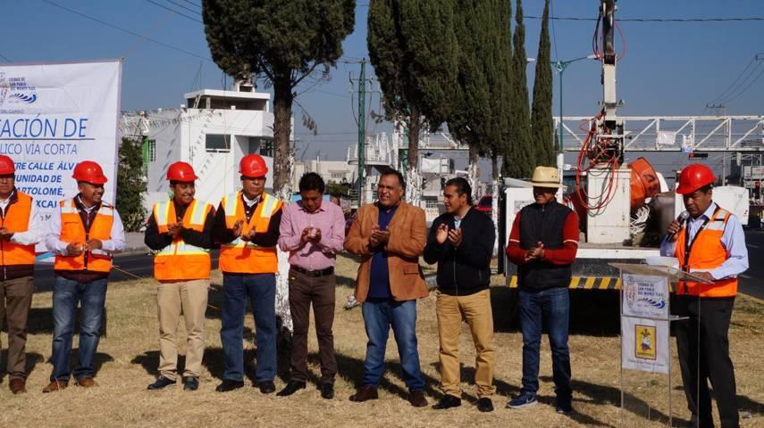 Rehabilitaran luminarias de Via Corta-Santa Ana en San Pablo del Monte
