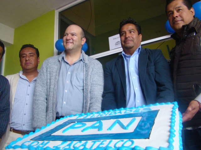 Inauguró Juan Corral Mier oficinas del CDM del PAN en Zacaltelco