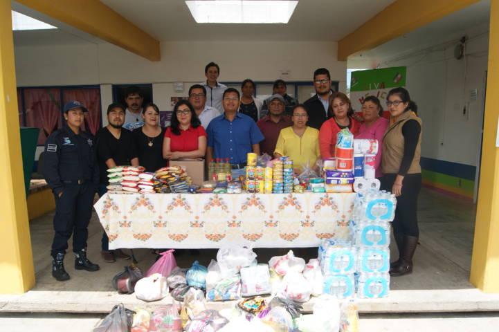 Habilita DIF Tlaxco Centro de Acopio en apoyo a damnificados de CDMEX, Morelos, Puebla, Guerrero, Chiapas y Oaxaca