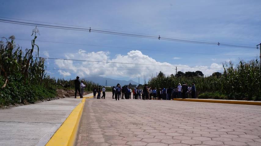 Presidente municipal entrega obra en la comunidad de San Cosme, San Pablo Del Monte