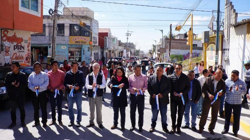 Cutberto Cano entrega Calle Zaragoza comunidad de Tlaltepango, San Pablo del Monte