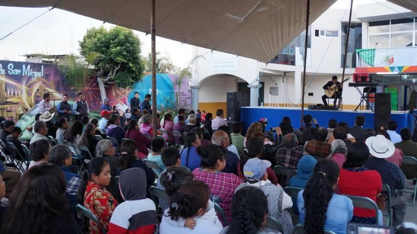 Ofrecen conciertos didácticos de escuela de música Manuel Maria Ponce en San Pablo Del Monte