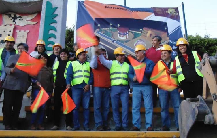 Inició Alcalde de Totolac remodelación total del Parque de Ocotelulco