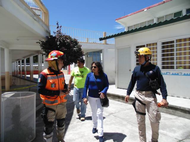 Reportan en Totolac daños por el sismo en tres iglesias y una primaria