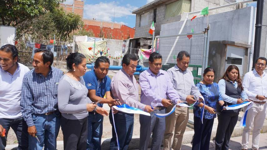 Inauguran pozo profundo de agua potable en la comunidad de la Santisima, SPM