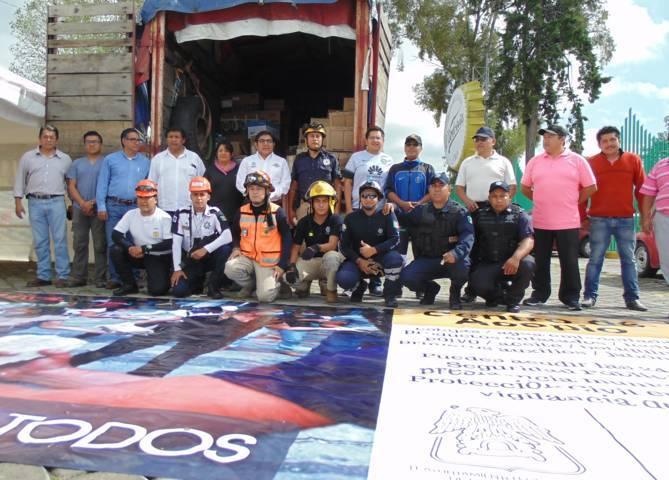 Entrega Alcalde de Totolac 6 toneladas de ayuda al Municipio de Tepalcingo, Morelos