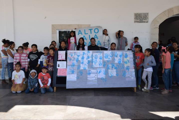 Ayuntamiento fomenta en niños la prevención de la trata de personas