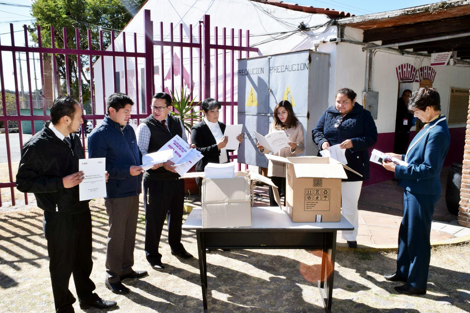 Entrega ITE al INE manuales para observadores electorales
