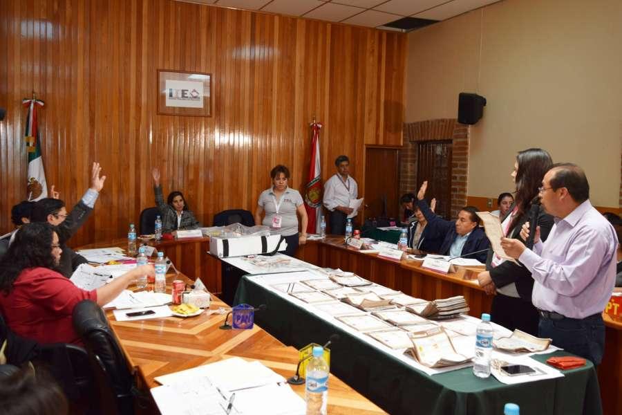 Realizan recuenta de 13 casillas de elección en Tzompantepec