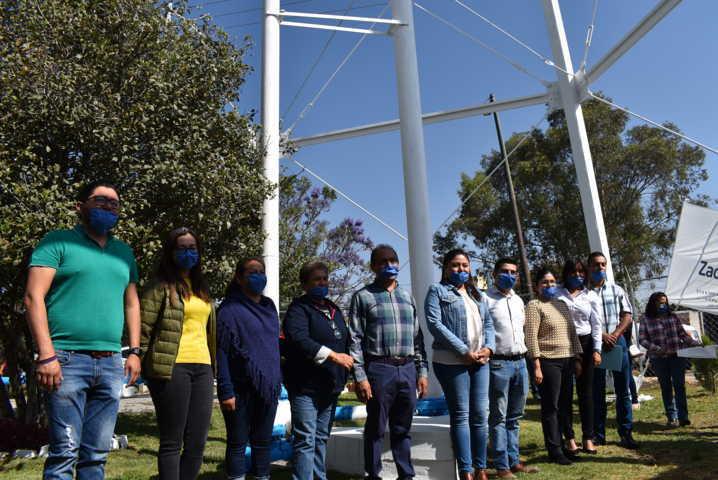 En evento cerrado se re inauguran los trabajos de en pozo de Barranca seca y Zócalo en Zacatelco
