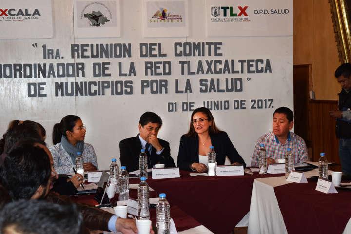 Realizan Primera Reunión de Red Tlaxcalteca de municipios por la salud