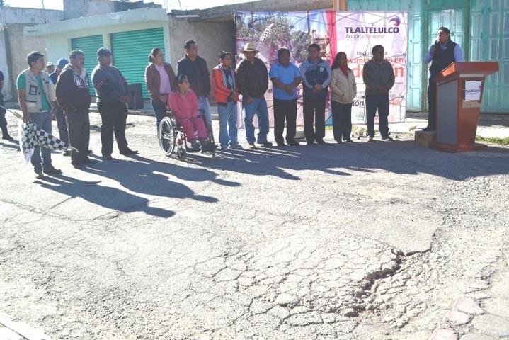 En marcha trabajos de adoquinamiento en la calle Independencia de Tlaltelulco: Polvo Rea