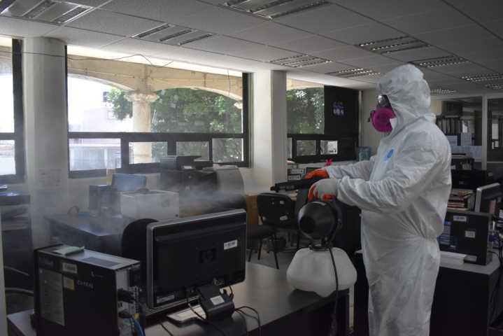 Realiza COBAT desinfección en planteles y áreas administrativas