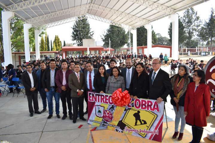 Se inauguró la techumbre del plantel 12 del COBAT ubicado en Santa Cruz