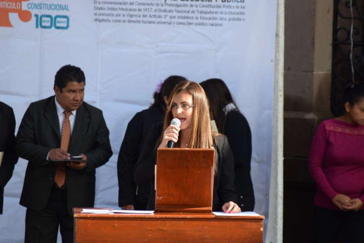 Conmemoran Tlaxco y Sección 31 del SNTE Centenario de Artículo Tercero