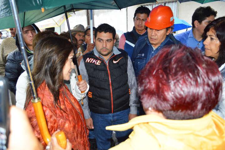 Delegada de SCT Tlaxcala, realiza gira de trabajo al municipio de Calpulalpan
