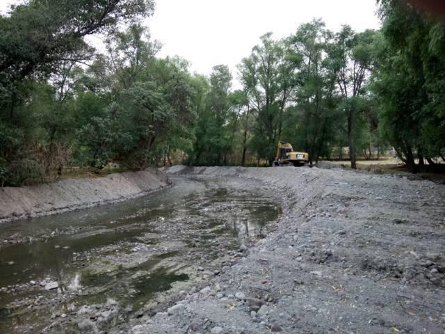 Con el desazolve del rio Tequixquiatl evitaremos inundaciones: PC municipal