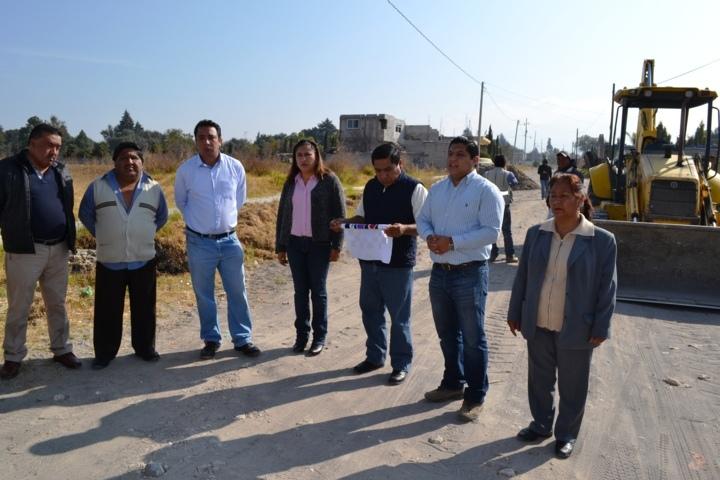 Polvo Rea da banderazo de salida a trabajos de rastreo en calles de Poxtla