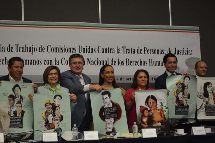 Acuerdan Senadores  apoyar con máxima difusión campaña de la CNDH para prevenir la trata