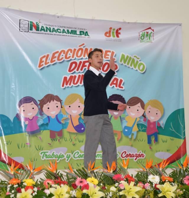 Ángel Sánchez representara a Nanacamilpa en la final de Niño Difusor Estatal 2019