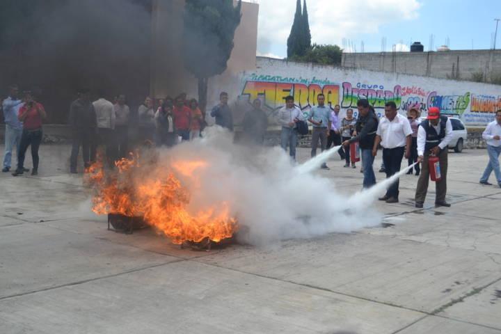Capacitan en prevención de incendio al personal del Ayuntamiento